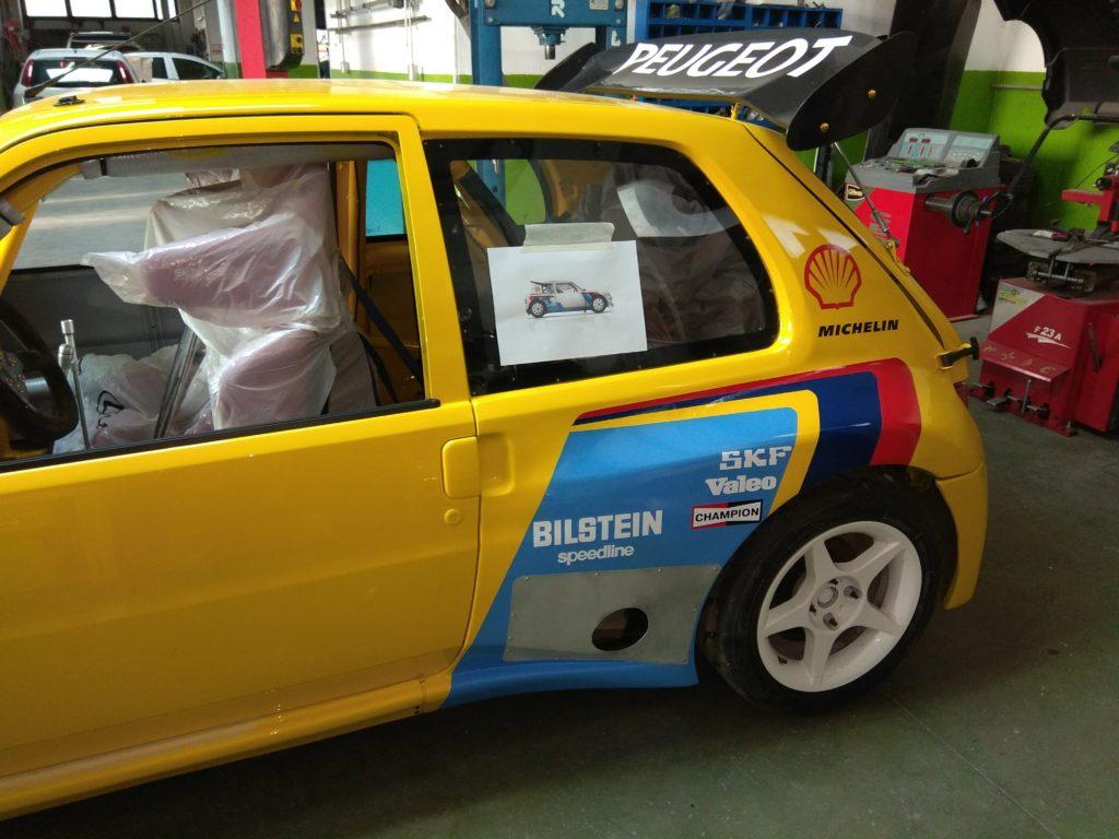 106 maxi turbo: allargamento lato sinistro